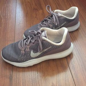 Nike training flex tr 7 rose purple silver sneaker
